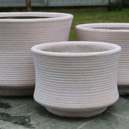 Zsac 96004 - Fiber Clay plant Pot