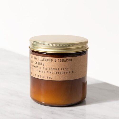 12.5 oz Teakwood & Tobacco Soy Candle